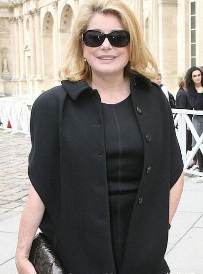 Catherine Deneuve Fashion Show
